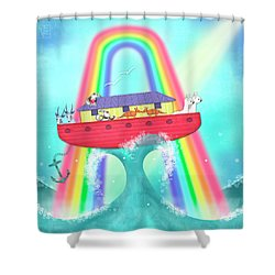A Is For Ark Shower Curtain