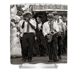 A Jazz Wedding In New Orleans Shower Curtain by Kathleen K Parker
