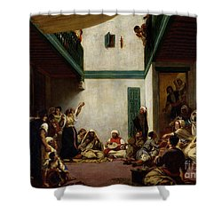 A Jewish Wedding In Morocco Shower Curtain by Ferdinand Victor Eugene Delacroix
