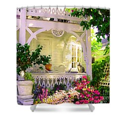 A Key West Porch Shower Curtain