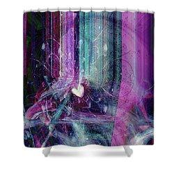Shower Curtain featuring the digital art A Kind Heart by Linda Sannuti