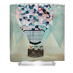 A Kitten Adventure Shower Curtain