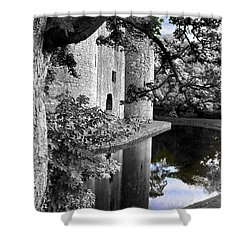 A Knight's Castle In Blue Shower Curtain