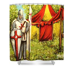 A Knights' Rest Shower Curtain