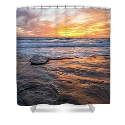 A La Jolla Sunset #2 Shower Curtain