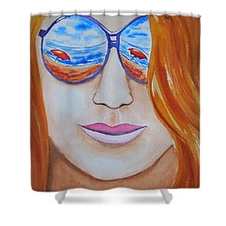 A La Plage Shower Curtain