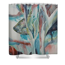 A L'abris Shower Curtain by Donna Acheson-Juillet