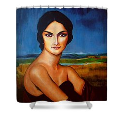 A Lady Shower Curtain
