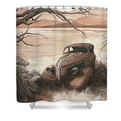 A Lakeshore Drive Shower Curtain by Janice Smith