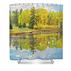 A Lakeside Willowwacks  Shower Curtain
