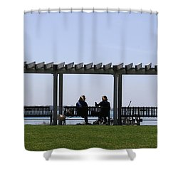 Shower Curtain featuring the photograph A Lazy Day by Paul SEQUENCE Ferguson             sequence dot net