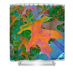 A #leaf From A #beautiful #redoak Shower Curtain