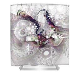 Shower Curtain featuring the digital art A Leap Of Faith - Fractal Art by NirvanaBlues