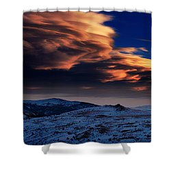 A Lenticular Landscape Shower Curtain