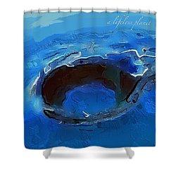 A Lifeless Planet Blue Shower Curtain