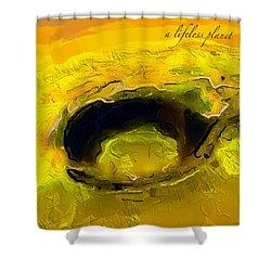 A Lifeless Planet Yellow Shower Curtain