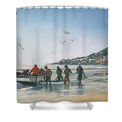 A Light Breakfast Shower Curtain
