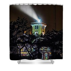 Shower Curtain featuring the photograph A Light In The Darkness by Nick Zelinsky