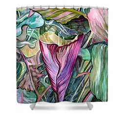 A Light In The Garden Shower Curtain