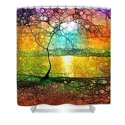 A Light Like Love Shower Curtain