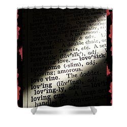 A Light On Love Shower Curtain