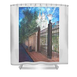 A Light Unto The World Shower Curtain by Jane Autry