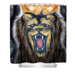 A Lion's Royalty Shower Curtain