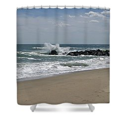 A Little April Drama Shower Curtain