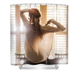 Shower Curtain featuring the photograph A Little Bit Country by Marat Essex