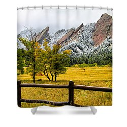 A Little Bit Of Winter Shower Curtain by Juli Ellen