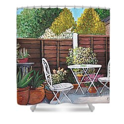 A Little British Garden Shower Curtain