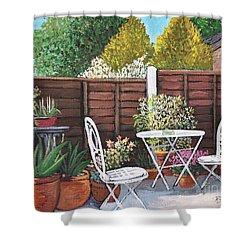 A Little British Garden Shower Curtain