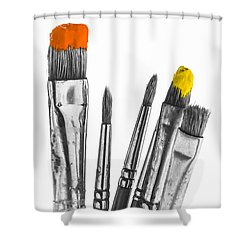 Shower Curtain featuring the photograph A Little Colour by Trevor Chriss