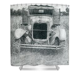 A Little Loopy Shower Curtain