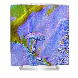 A Little Mushroom  Shower Curtain by Jeff Swan