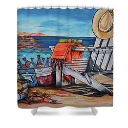 Shower Curtain featuring the painting A Little Piece Of Texas Heaven by Patti Schermerhorn