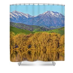 A Little Snow On Mt. Diablo Shower Curtain