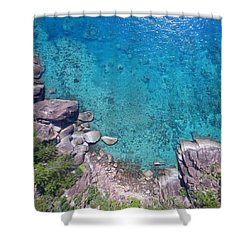 A Little Square Of Paradise  Shower Curtain