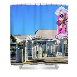 A Little White Chapel From The North 2 To 1 Ratio Shower Curtain