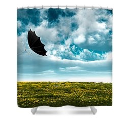 A Little Windy Shower Curtain by Bob Orsillo