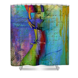A Little Wining Shower Curtain