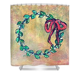 A Little Wreath Shower Curtain