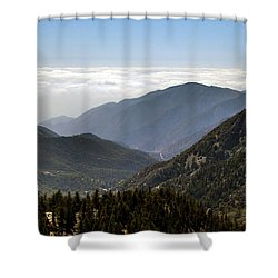 A Lofty View Shower Curtain by Ed Clark