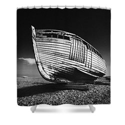 A Lonely Boat Shower Curtain