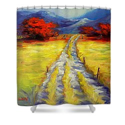 A Long Journey Shower Curtain