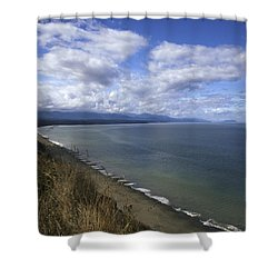 A Long View Shower Curtain by Jane Eleanor Nicholas