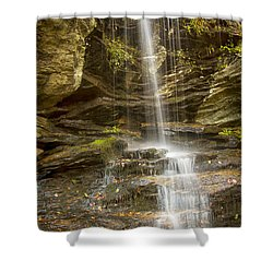 Shower Curtain featuring the photograph A Look At Window Falls by Bob Decker