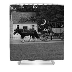 A Look Back Shower Curtain by Eric Liller
