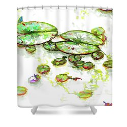 A Lotus Leaf Shower Curtain by Lanjee Chee