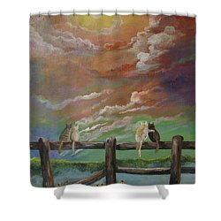 A Lovers Moon Shower Curtain